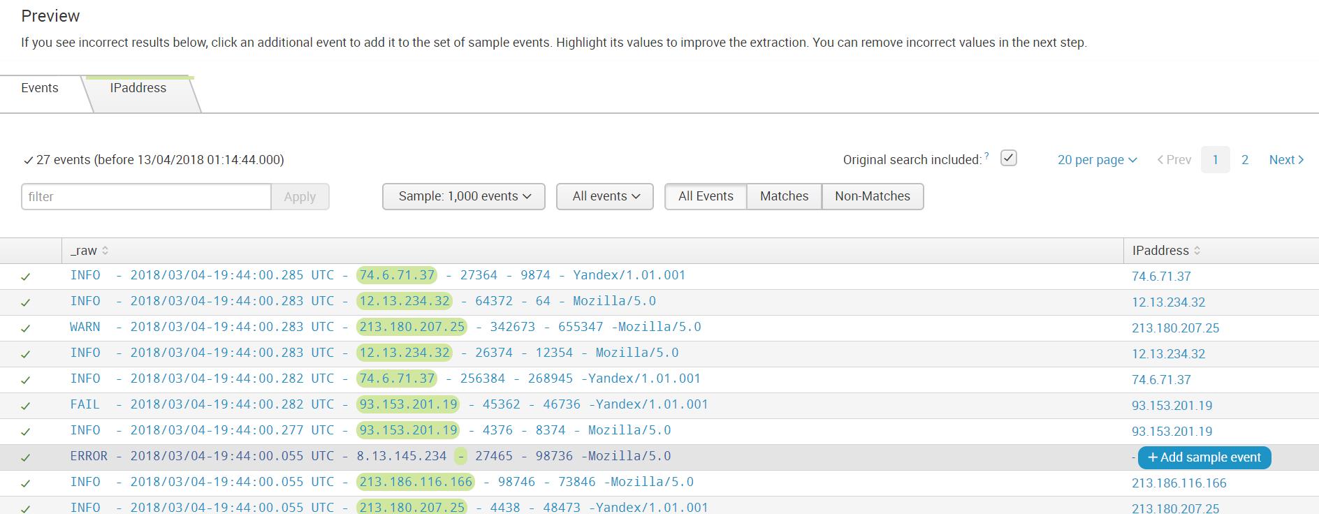 Как загрузить нестандартный лог в Splunk + логи Fortinet - 13