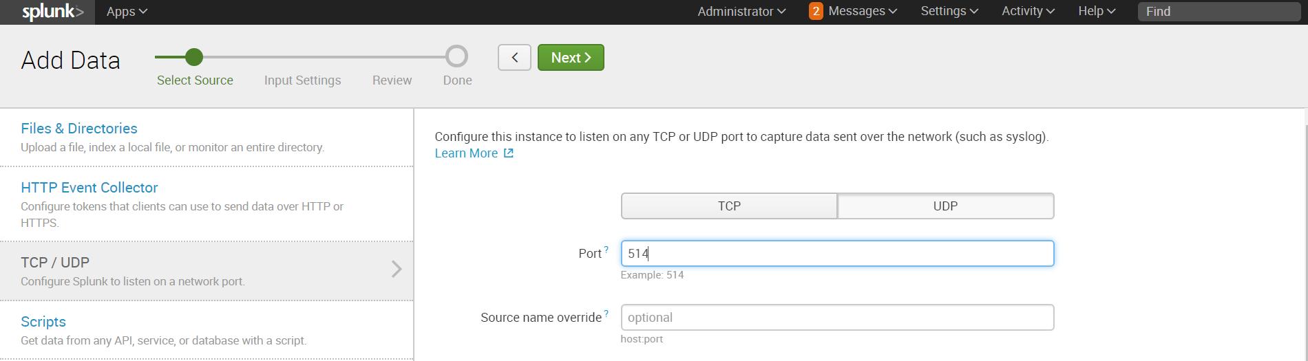 Как загрузить нестандартный лог в Splunk + логи Fortinet - 2