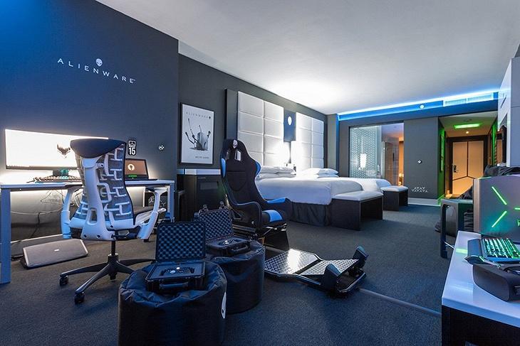 Номер отеля, над которым потрудилась Alienware