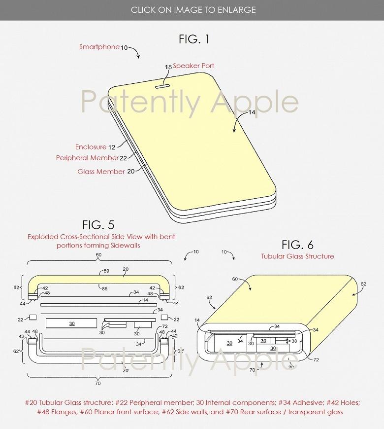 Apple патентует в Европе смартфон в стеклянном корпусе
