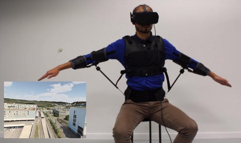 Экзоскелет FlyJacket предназначен для интуитивного управления дроном