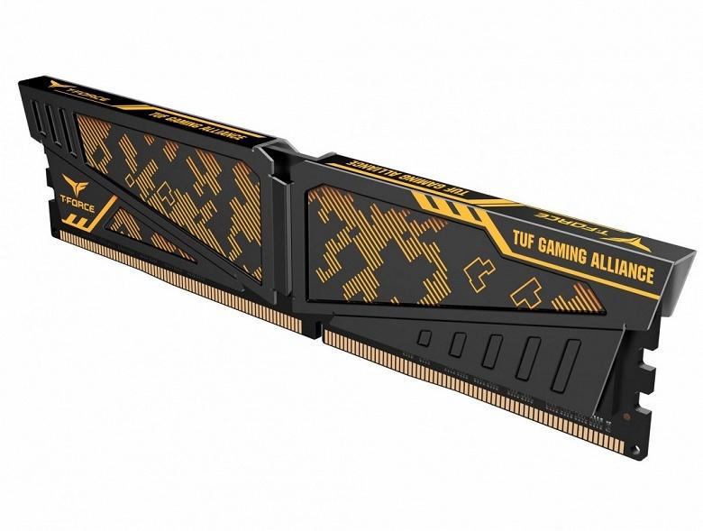 Новые модули памяти Team Group по оформлению соответствуют изделиям линейки Asus TUF Gaming