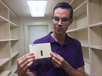 Как измерить толщину волоса при помощи лазерной указки - 2