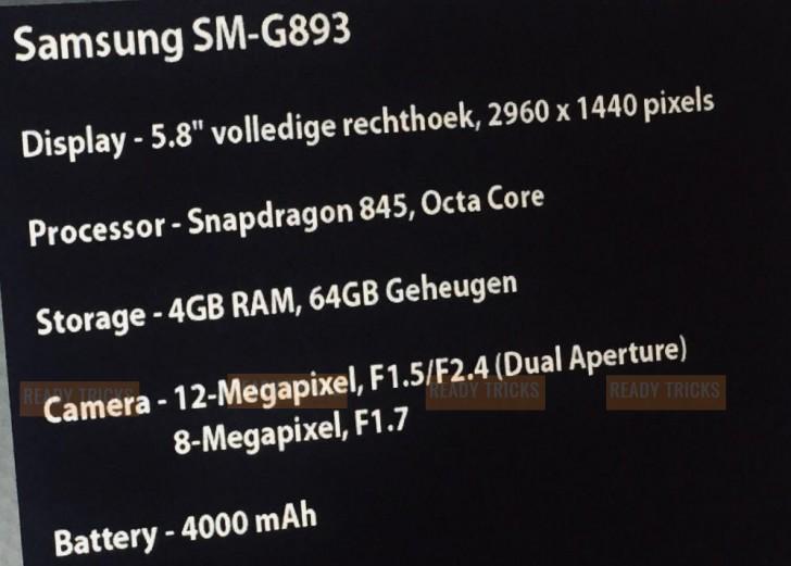 Смартфон Samsung Galaxy S9 Аctive должен получить аккумулятор емкостью 4000 мА•ч