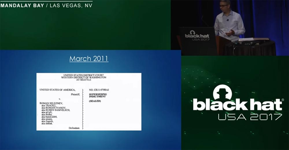 Конференция BLACK HAT USA. «Как федералы поймали русского мега-кардера Романа Селезнёва» - 16