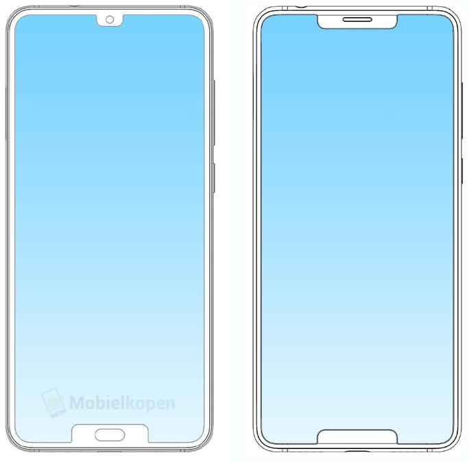 ZTE запатентовала еще один смартфон с двумя вырезами в экране
