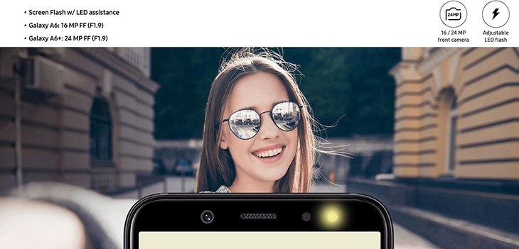 Samsung Galaxy A6 и A6+: официальные изображения
