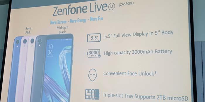 Смартфон Asus Zenfone Live L1 получил ОС Android Go - 2