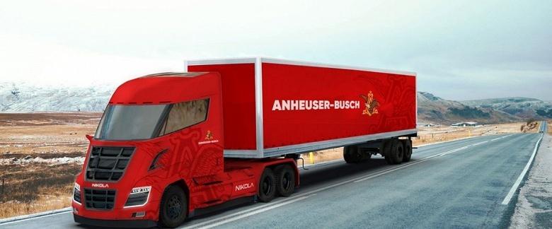 Anheuser-Busch заказала у Nikola Motors 800 водородных грузовиков One - 1