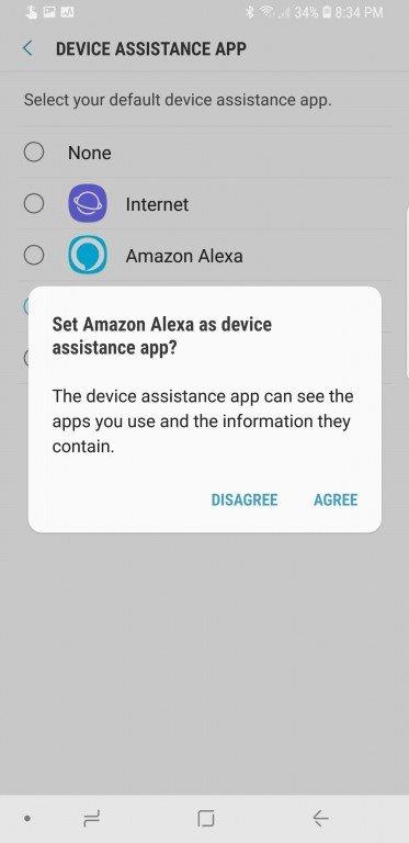Amazon Alexa можно установить помощником по умолчанию в ОС Android