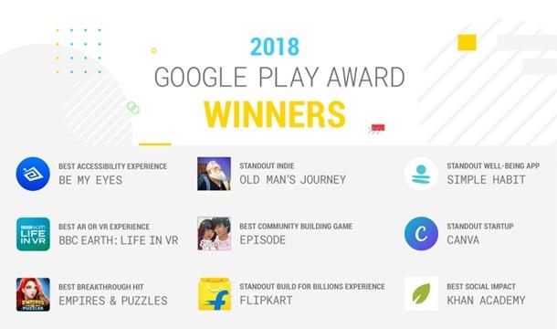 Названы победители Google Play Awards 2018
