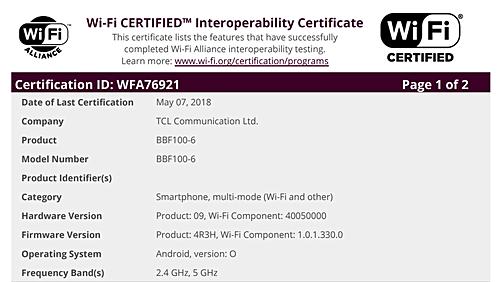 Смартфон BlackBerry Key2 получил сертификаты Wi-Fi и Bluetooth