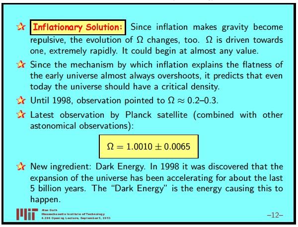 Ранняя вселенная 1. Инфляционная Космология: является ли наша вселенная частью мультивселенной? Часть 1 - 13