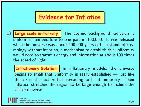 Ранняя вселенная 1. Инфляционная Космология: является ли наша вселенная частью мультивселенной? Часть 1 - 9
