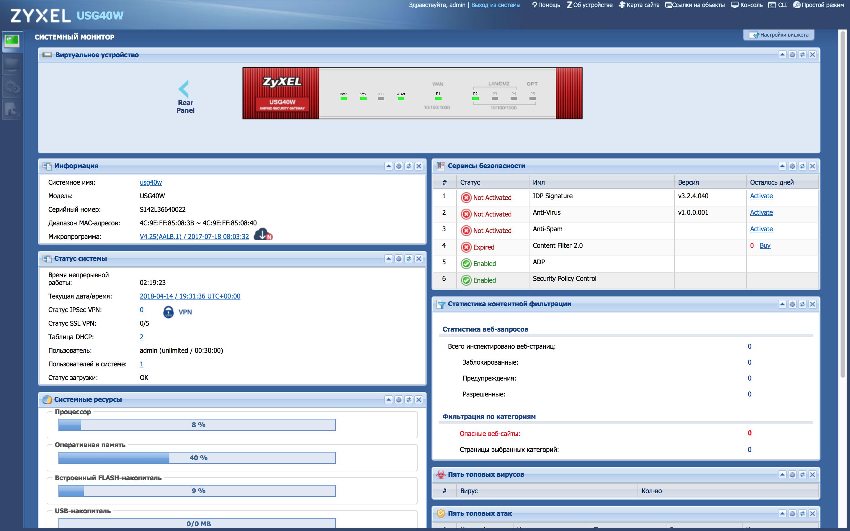 Построение расширенной системы антивирусной защиты небольшого предприятия. Часть 2. Антивирусный шлюз USG40W от Zyxel - 9