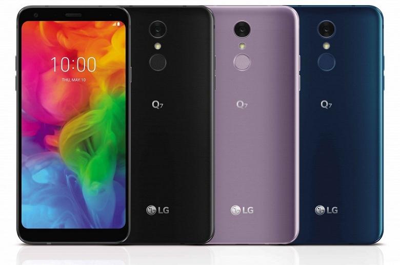 Недорогие смартфоны LG Q7 могут похвастаться защитой от воды и соответствием стандарту MIL-STD 810G