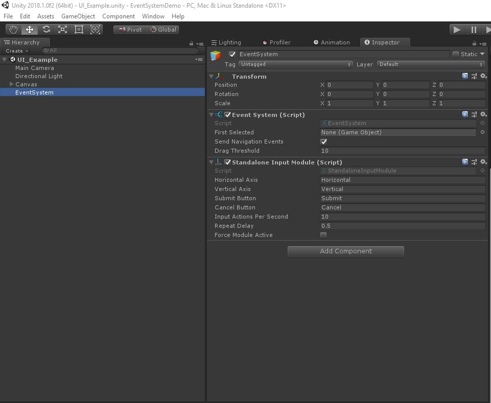 Работа с EventSystem в Unity. Базовые вещи в работе с UI - 2