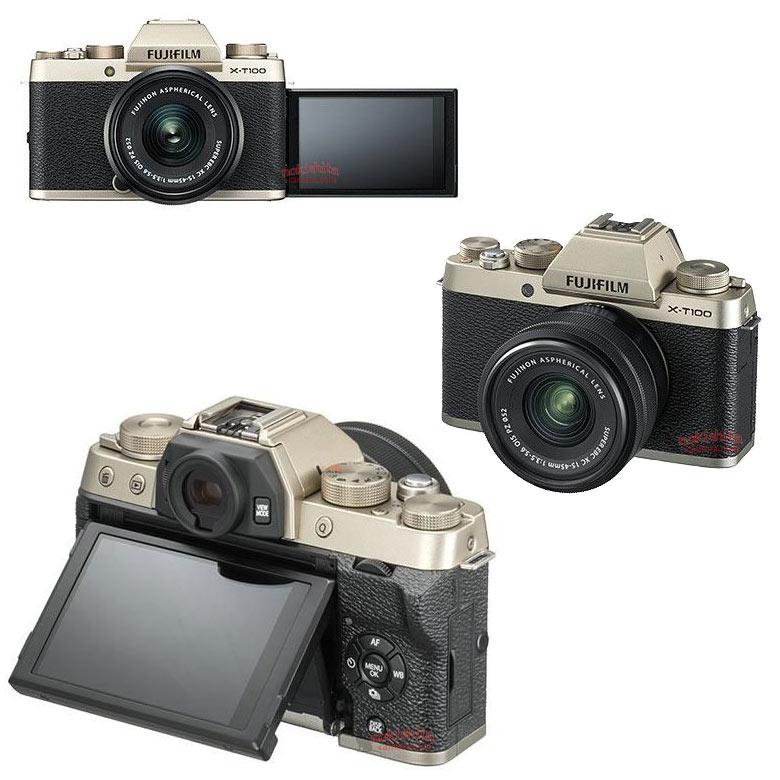 Появились новые изображения камеры Fujifilm X-T100 и сведения о цене