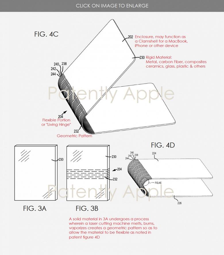 Apple работает над «живым шарниром» для своих будущих ноутбуков
