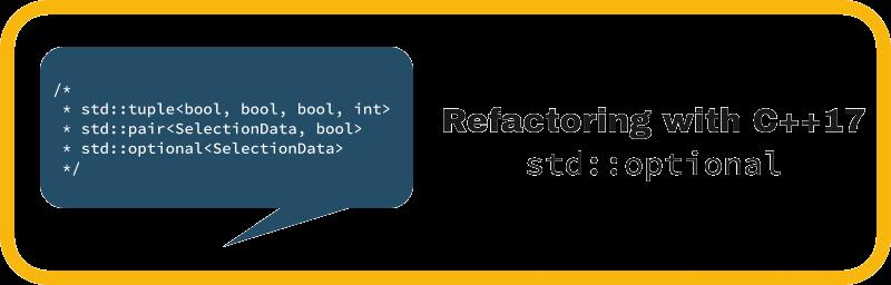 Рефакторинг с использованием C++17 std::optional - 1