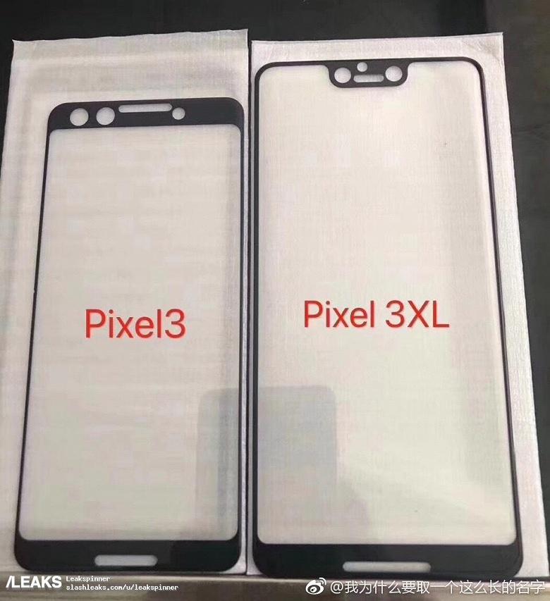 Смартфон Google Pixel 3 XL получит вырез вверху экрана. Pixel 3 — нет