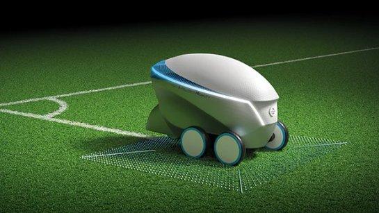 Nissan демонстрирует робота, рисующего футбольные поля