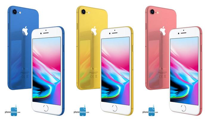 В новом поколении своих смартфонов компания Apple опробует непривычные для себя цветовые варианты