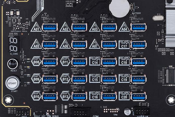 Компания ASUS презентовала новую материнскую плату для GPU-майнинга - 3
