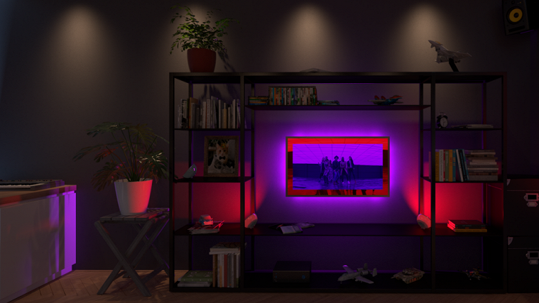 ПО Philips Hue Sync позволяет создать на ПК адаптивную динамическую подсветку