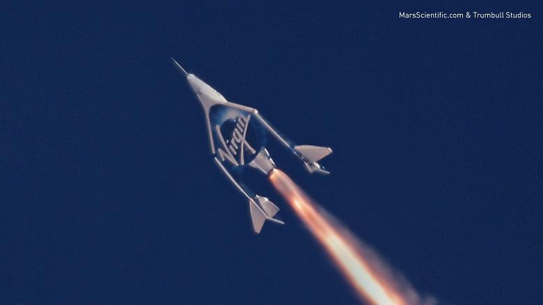 Видео дня: второй полет Virgin Galactic Unity с включенным двигателем