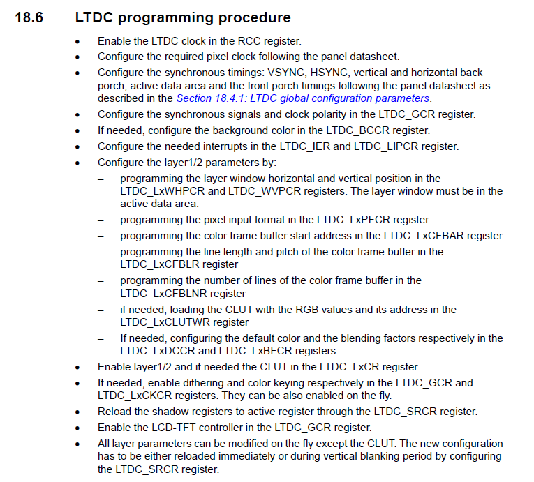 Запускаем дисплей на STM32 через LTDC… на регистрах - 3