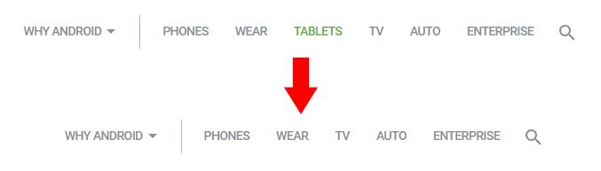 Google удалила с официального сайта Android раздел с планшетами