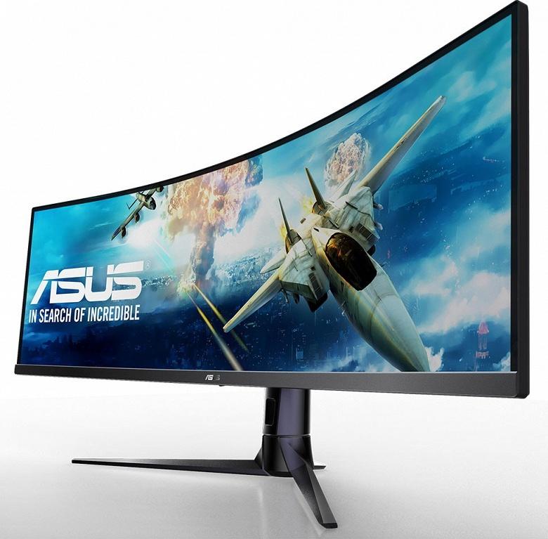 32:9 — отношение сторон экрана 49-дюймового монитора Asus VG49V