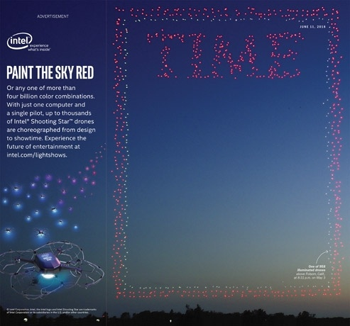Intel устроила очередную техно-иллюминацию и попала на обложку TIME