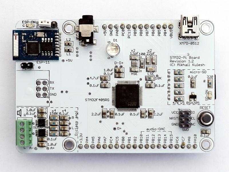 Отладочная плата STM32F4 в форм-факторе Raspberry Pi - 10