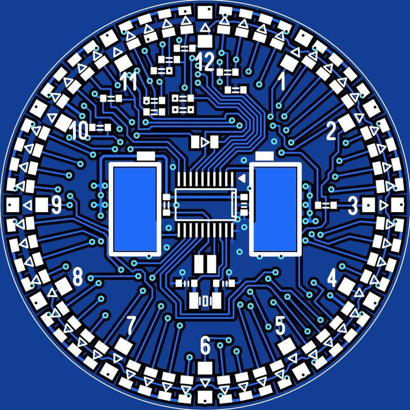 Стрелочные LED-часы для обучения пайке SMD компонентов - 4