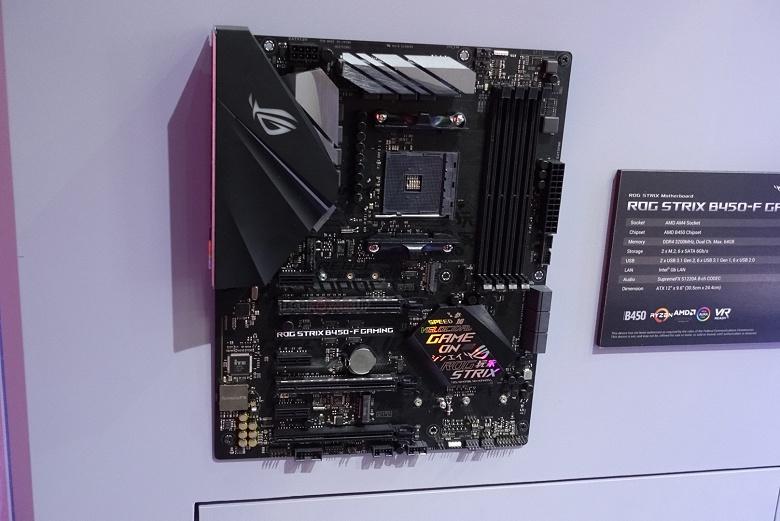 На Computex 2018 замечена системная плата Asus ROG Strix B450-F Gaming