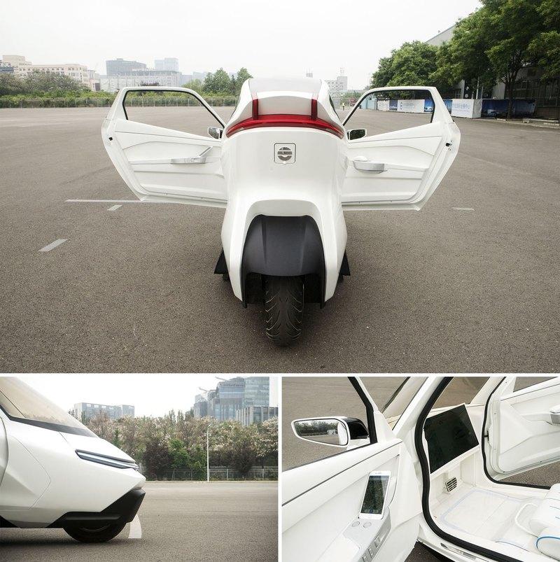 Китайцы сделали беспилотный электрогирокар