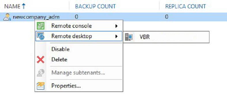 Работа с Veeam Availability Console: настройка управляемого резервного копирования Managed Backup Services - 18
