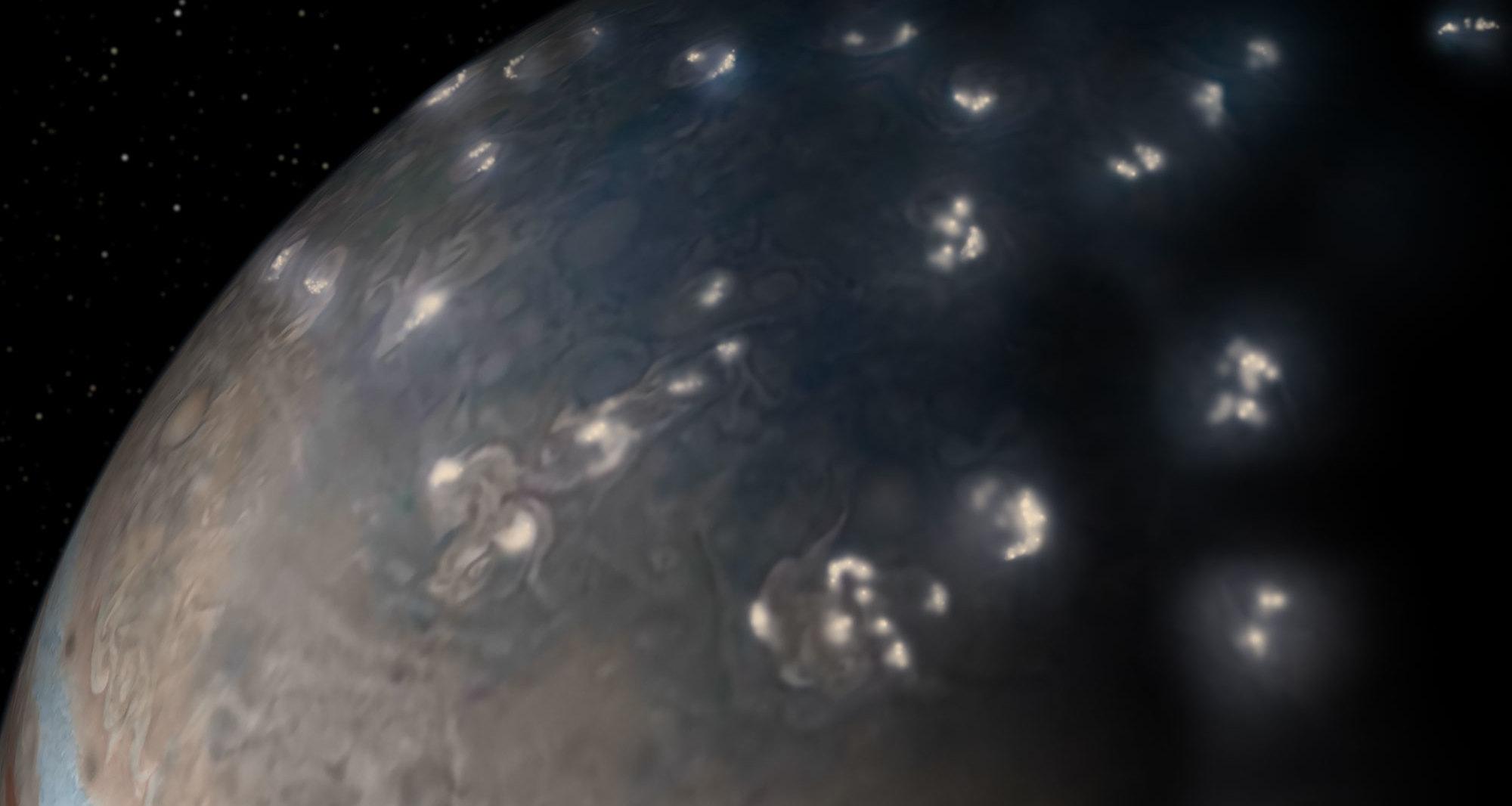 Раскрыта загадка молний на Юпитере