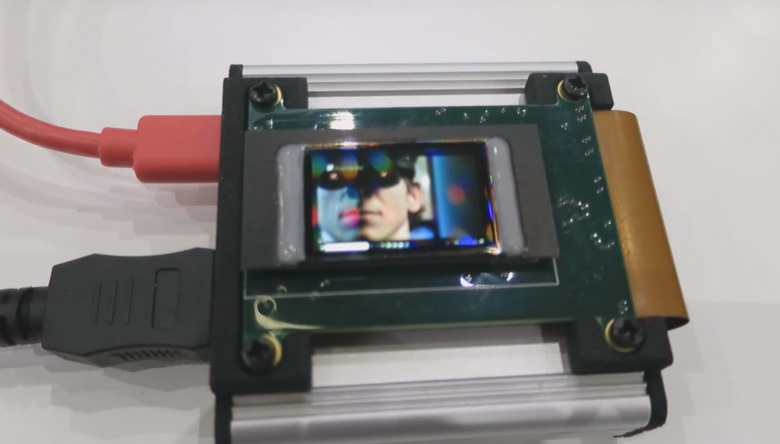 Специалистами Fraunhofer FEP создан микродисплей OLED плотностью 2300 пикселей на дюйм