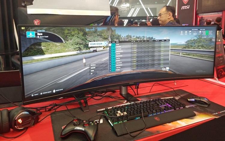 Computex 2018: огромный изогнутый монитор MSI Optix MAG491C
