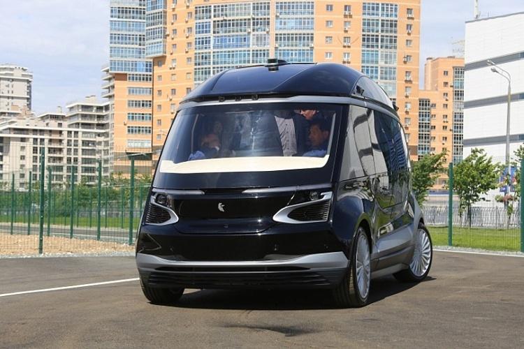 Показан прототип самоуправляемого электробуса «КАМАЗ» с поддержкой 5G