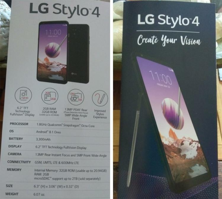 Раскрыто оснащение смартфона LG Stylo 4: чип Snapdragon и 6,2″ экран
