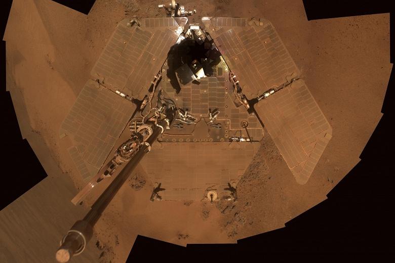 Марсоход Opportunity попал в песчаную бурю и не выходит на связь