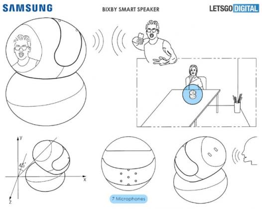 Вместе с Galaxy Note9 может быть показана умная колонка Samsung с поворотным дисплеем