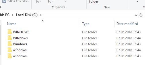 Windows и case-sensitive filesystem - 1