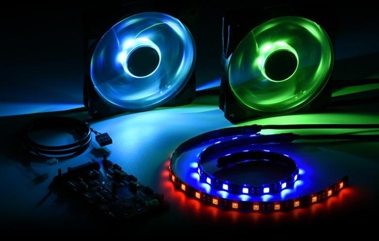 Комплект Sharkoon Pacelight поможет наделить RGB-подсветкой настольный ПК