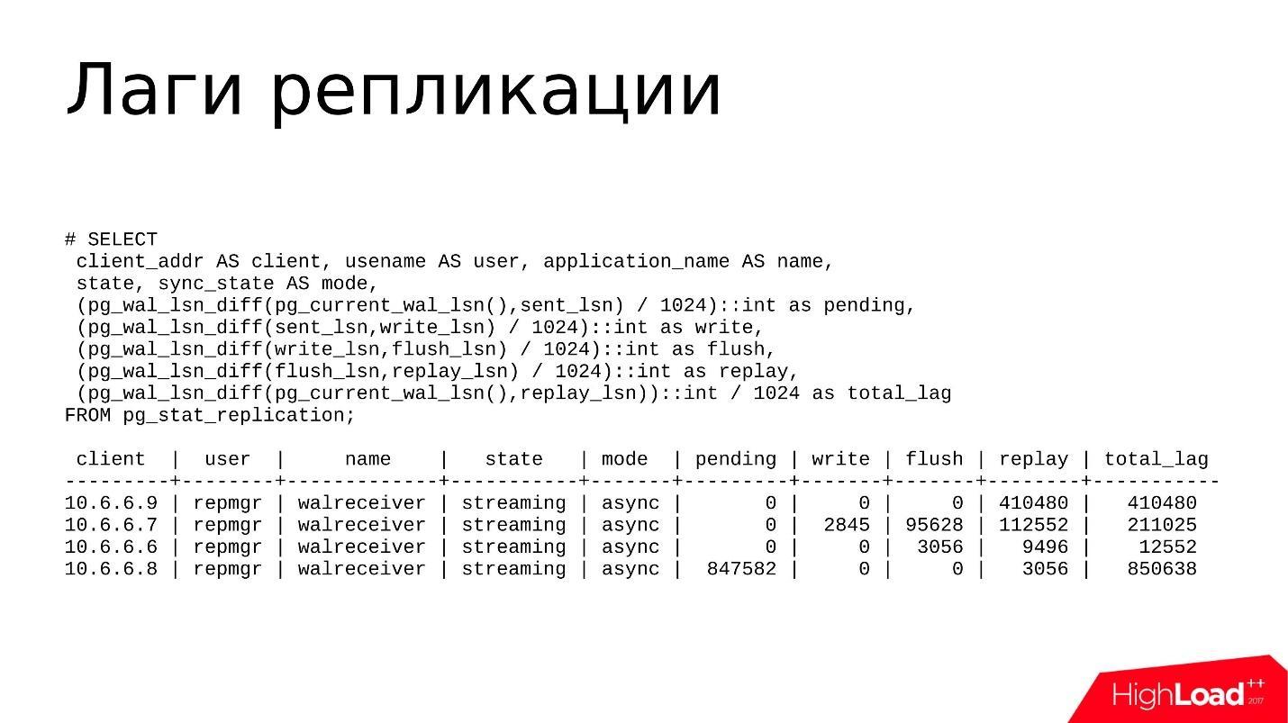 Отладка и устранение проблем в PostgreSQL Streaming Replication - 3