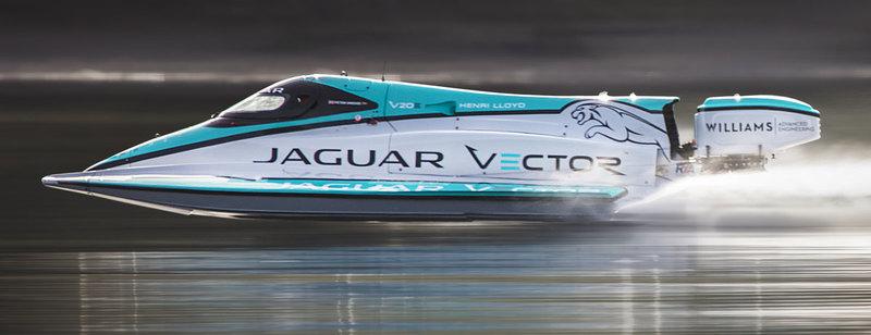 Jaguar установил рекорд скорости на воде для электрических лодок